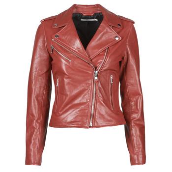 Oblačila Ženske Usnjene jakne & Sintetične jakne Naf Naf CHACHA P Rdeča