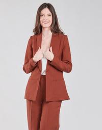 Oblačila Ženske Jakne & Blazerji Naf Naf LINONOU V2 Terracotta