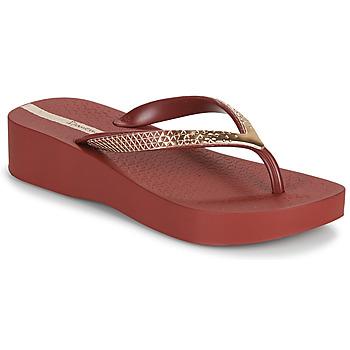 Čevlji  Ženske Japonke Ipanema IPANEMA MESH VI PLAT FEM Bordo