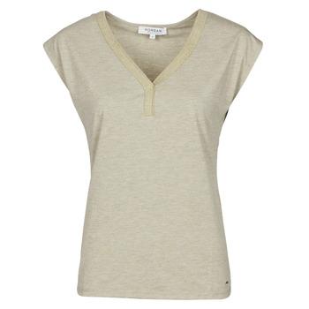 Oblačila Ženske Majice s kratkimi rokavi Morgan DMAYA Bež