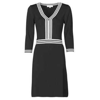 Oblačila Ženske Kratke obleke Morgan RMFATA Črna / Bela