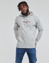 Oblačila Moški Puloverji Tommy Jeans TJM LINEAR LOGO HOODIE Siva