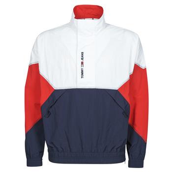 Oblačila Moški Jakne Tommy Jeans TJM LIGHTWEIGHT POPOVER JACKET Bela / Rdeča