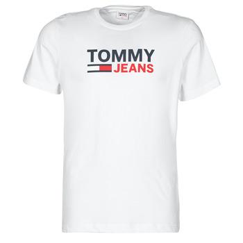 Oblačila Moški Majice s kratkimi rokavi Tommy Jeans TJM CORP LOGO TEE Bela