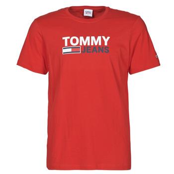 Oblačila Moški Majice s kratkimi rokavi Tommy Jeans TJM CORP LOGO TEE Rdeča