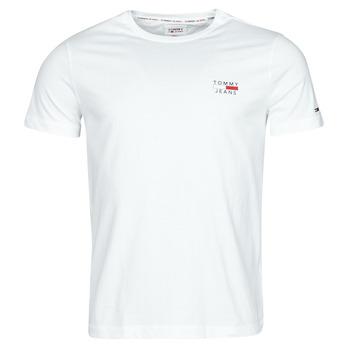 Oblačila Moški Majice s kratkimi rokavi Tommy Jeans TJM CHEST LOGO TEE Bela