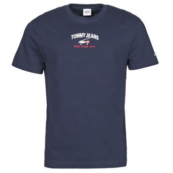 Oblačila Moški Majice s kratkimi rokavi Tommy Jeans TJM TIMELESS TOMMY SCRIPT TEE Modra