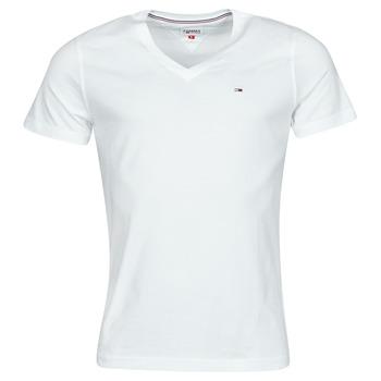 Oblačila Moški Majice s kratkimi rokavi Tommy Jeans TJM ORIGINAL JERSEY TEE V NECK Bela
