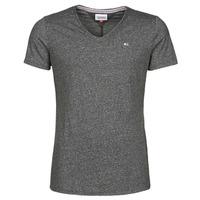 Oblačila Moški Majice s kratkimi rokavi Tommy Jeans TJM SLIM JASPE V NECK Črna