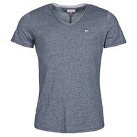 Oblačila Moški Majice s kratkimi rokavi Tommy Jeans TJM SLIM JASPE V NECK Modra