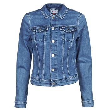 Oblačila Ženske Jeans jakne Tommy Jeans VIVIANNE SLIM DENIM TRUCKER NMBS Modra
