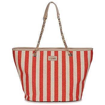 Torbice Ženske Nakupovalne torbe Liu Jo SICURA XL TOTE Bež / Rdeča