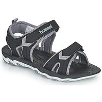 Čevlji  Otroci Športni sandali Hummel SANDAL SPORT JR Črna