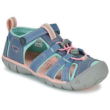 Čevlji  Deklice Športni sandali Keen SEACAMP II CNX Siva / Rožnata