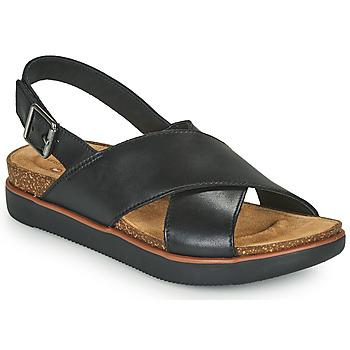 Čevlji  Ženske Sandali & Odprti čevlji Clarks ELAYNE CROSS Črna