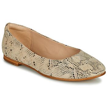 Čevlji  Ženske Balerinke Clarks GRACE PIPER Bež / Piton
