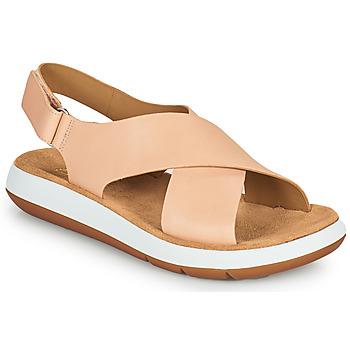 Čevlji  Ženske Sandali & Odprti čevlji Clarks JEMSA CROSS Nude