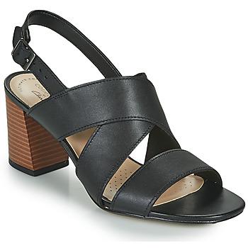 Čevlji  Ženske Sandali & Odprti čevlji Clarks JOCELYNNE BAO Črna