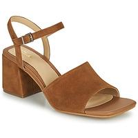 Čevlji  Ženske Sandali & Odprti čevlji Clarks SHEER65 BLOCK Kamel