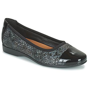 Čevlji  Ženske Balerinke Clarks UN DARCEY CAP2 Črna