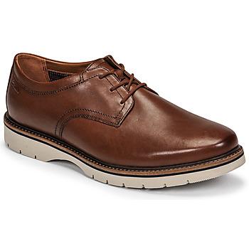 Čevlji  Moški Čevlji Derby Clarks BAYHILL PLAIN Kostanjeva