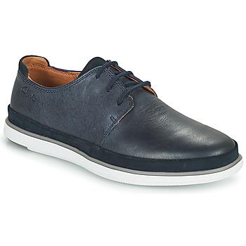 Čevlji  Moški Čevlji Derby Clarks BRATTON LACE Modra