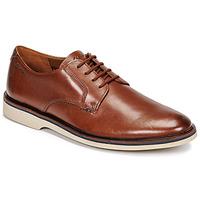 Čevlji  Moški Čevlji Derby Clarks MALWOOD PLAIN Kostanjeva