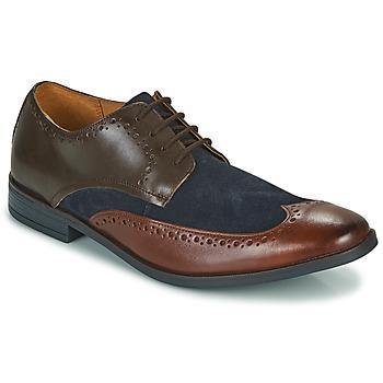Čevlji  Moški Čevlji Derby Clarks STANFORD LIMIT Kostanjeva / Modra