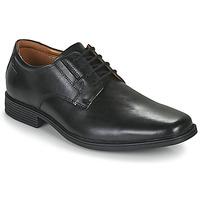 Čevlji  Moški Čevlji Derby Clarks TILDEN PLAIN Črna