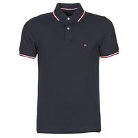 Oblačila Moški Polo majice kratki rokavi Tommy Hilfiger TOMMY TIPPED SLIM POLO Modra