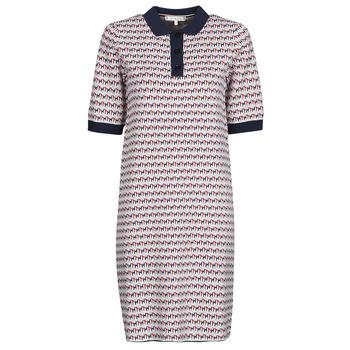 Oblačila Ženske Kratke obleke Tommy Hilfiger TH CUBE SHIFT SHORT DRESS SS Bela / Rdeča