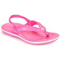 Čevlji  Deklice Japonke Crocs CROCBAND STRAP FLIP K Rožnata