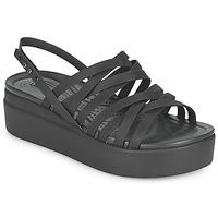 Čevlji  Ženske Sandali & Odprti čevlji Crocs CROCS BROOKLYN STRAPPY LOWWDGW Črna