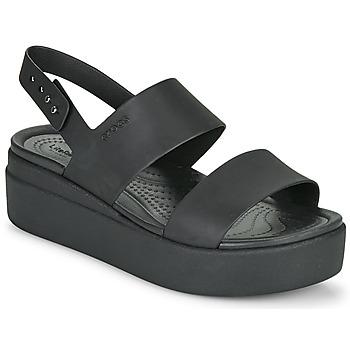 Čevlji  Ženske Sandali & Odprti čevlji Crocs CROCS BROOKLYN LOW WEDGE W Črna
