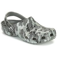 Čevlji  Moški Cokli Crocs CLASSIC PRINTED CAMO CLOG Maskovací / Siva