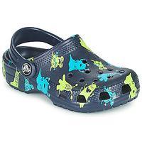 Čevlji  Dečki Cokli Crocs CLASSIC MONSTER PRINT CLOG T Modra