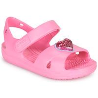 Čevlji  Deklice Sandali & Odprti čevlji Crocs CLASSICCROSSSTRAPCHARMSANDAL T Rožnata