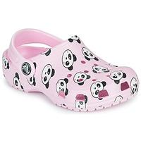 Čevlji  Deklice Cokli Crocs CLASSIC PANDA PRINT CLOG K Rožnata / Panda