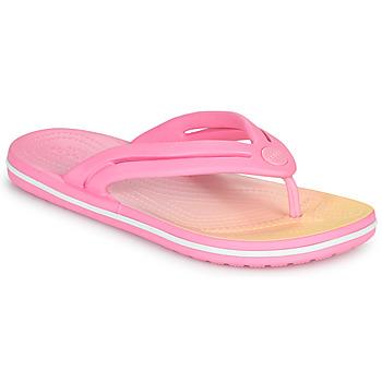 Čevlji  Ženske Japonke Crocs CROCBAND OMBRE FLIP W Rožnata