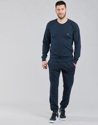 Oblačila Moški Trenirka komplet Emporio Armani STRETCH TERRY Modra