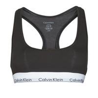 Spodnje perilo Ženske Topi Calvin Klein Jeans MODERN COTTON UNLINED BRALETTE Črna