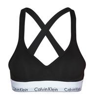 Spodnje perilo Ženske Topi Calvin Klein Jeans MODERN COTTON BRALETTE LIFT Črna