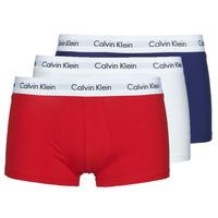 Spodnje perilo Moški Boksarice Calvin Klein Jeans RISE TRUNK X3 Bela / Rdeča