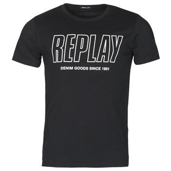 Oblačila Moški Majice s kratkimi rokavi Replay M3395-2660 Črna