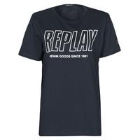 Oblačila Moški Majice s kratkimi rokavi Replay M3395-2660 Modra