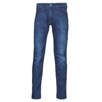 Oblačila Moški Kavbojke slim Replay ANBASS Pants Modra