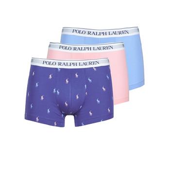 Spodnje perilo Moški Boksarice Polo Ralph Lauren CLASSIC TRUNK X3 Rožnata / Modra