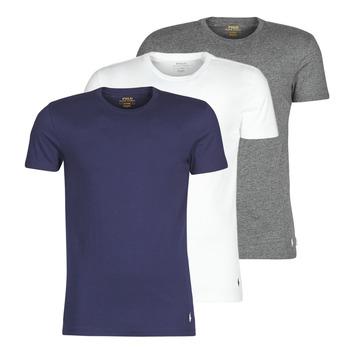 Oblačila Moški Majice s kratkimi rokavi Polo Ralph Lauren SS CREW NECK X3 Siva / Bela