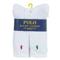 Dodatki  Moški Nogavice Polo Ralph Lauren ASX110 6 PACK COTTON Bela