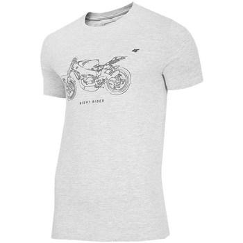 Oblačila Moški Majice s kratkimi rokavi 4F TSM012 Siva